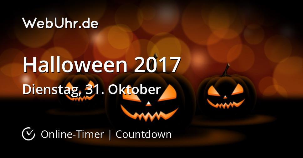 wann ist halloween 2017 countdown timer. Black Bedroom Furniture Sets. Home Design Ideas