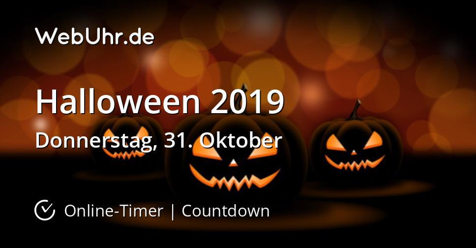 Wann Ist Halloween 2019