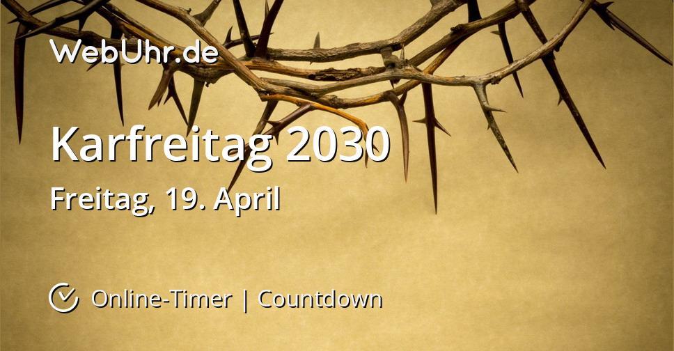Karfreitag 2030