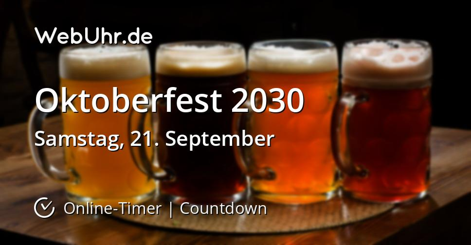 Oktoberfest Dauer 2020