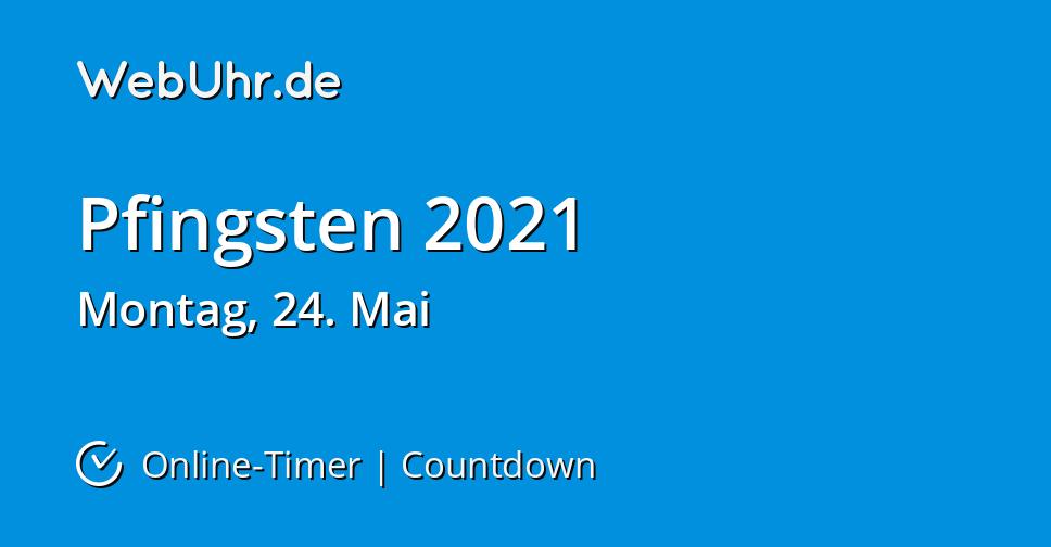 Verkaufsoffen Pfingstmontag 2021