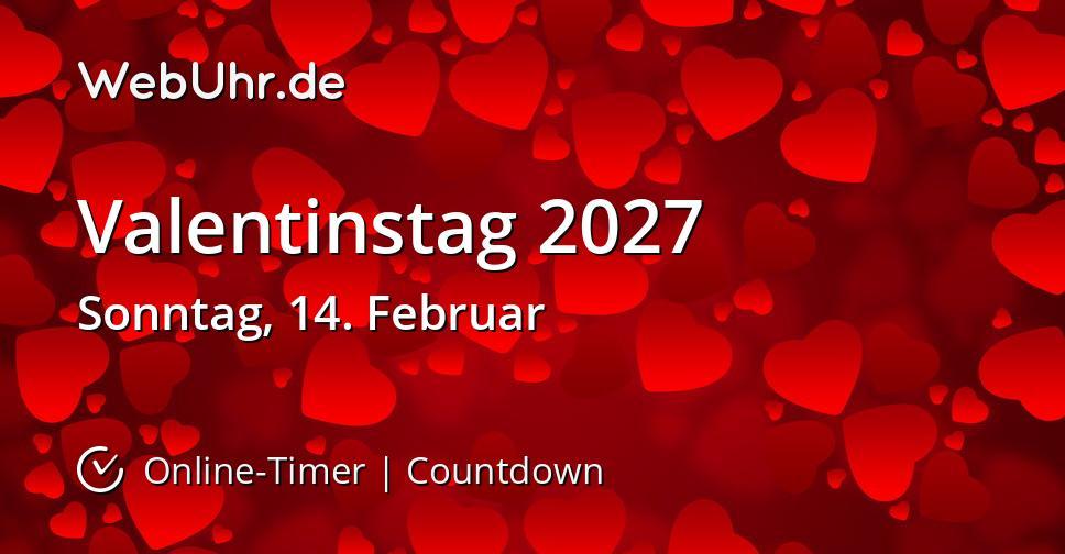 Valentinstag 2027