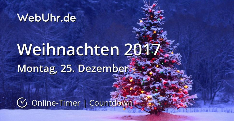 wann ist weihnachten 2017 countdown timer. Black Bedroom Furniture Sets. Home Design Ideas
