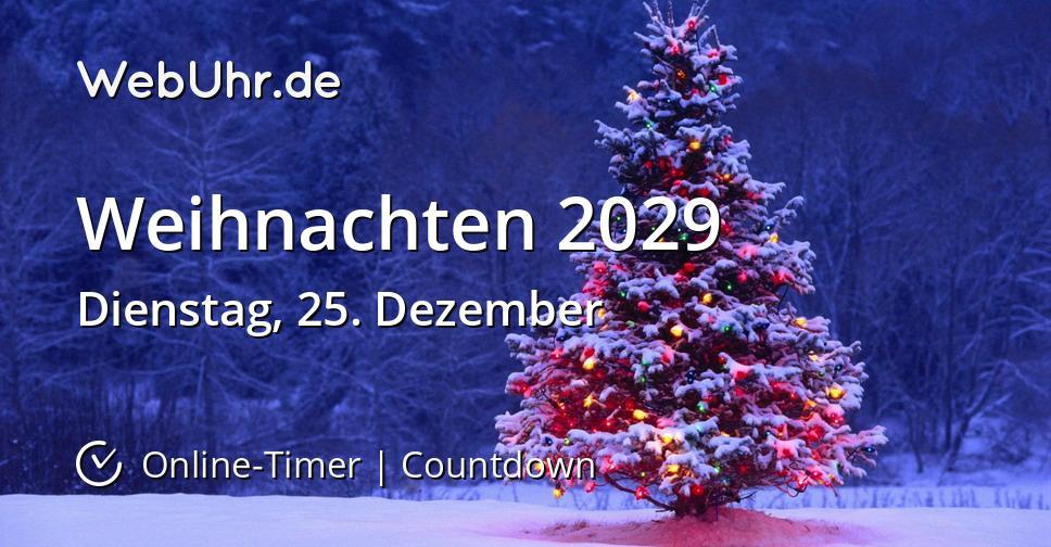 Weihnachten 2029