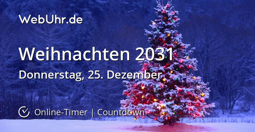 Weihnachten 2031