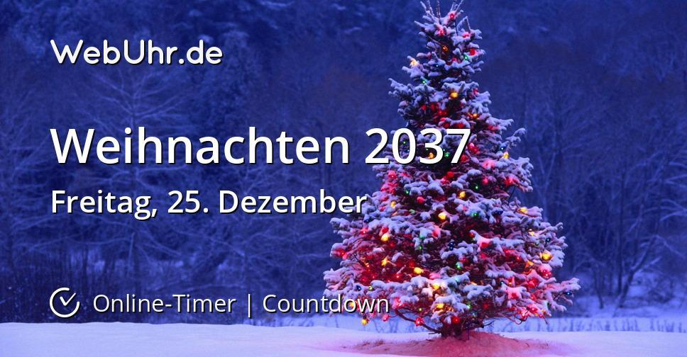 Weihnachten 2037
