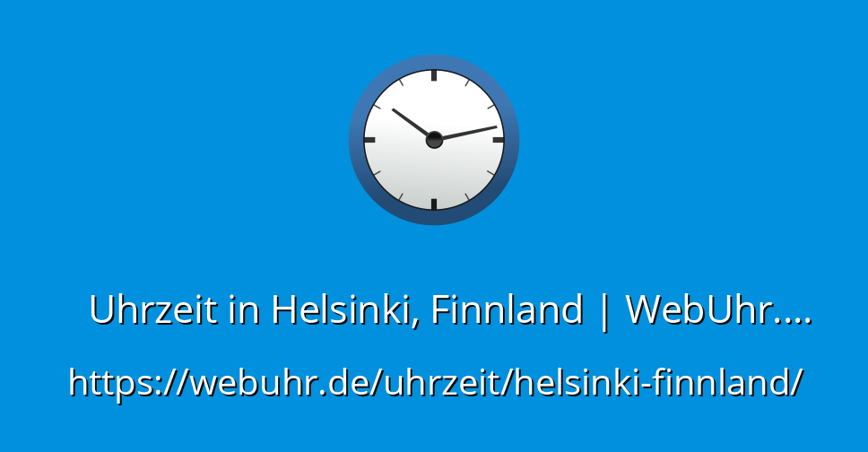 Uhrzeit Finnland