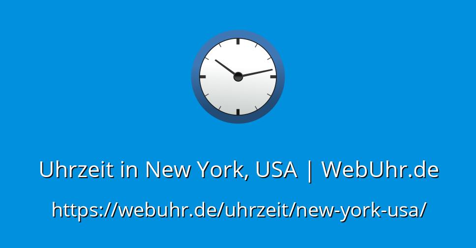 Uhrzeit In New York Usa Webuhrde