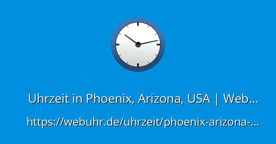 Uhrzeit In Arizona