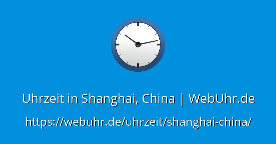 China Uhrzeit